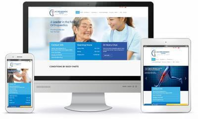 HC Orthopaedic Surgery website screenshot